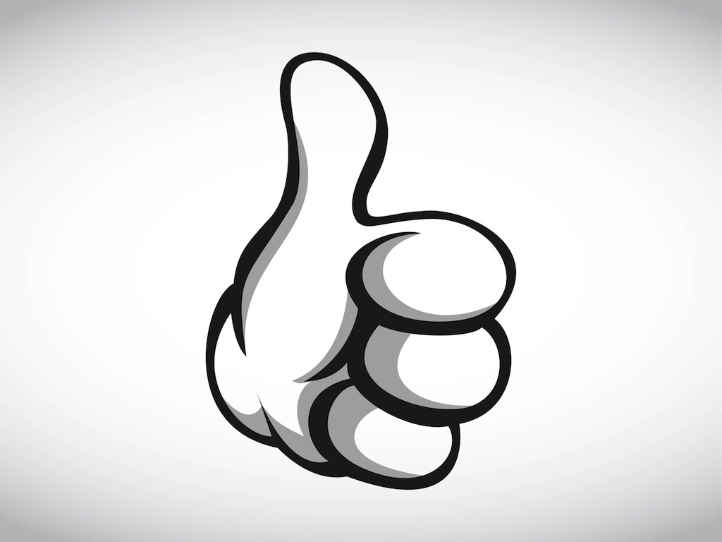 1024x768 Cartoon Thumbs Up Clip Art Cliparts