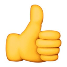 256x256 Clip Art Thumbs Up