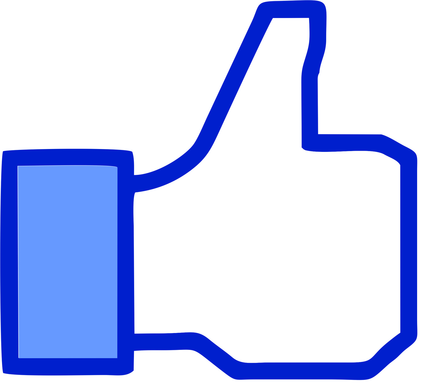 1500x1340 Facebook Thumbs Up Clipart