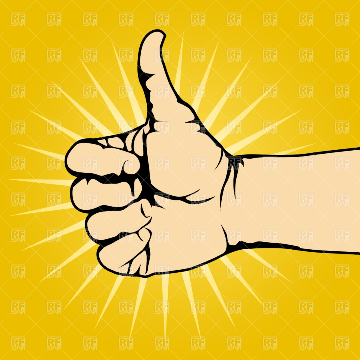 1200x1200 Thumbs Up Clipart Free