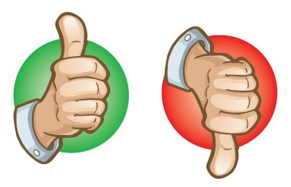 420x270 Thumbs Up Thumbs Down Clipart