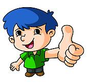 170x164 Clip Art Of Thumb Up K18469128