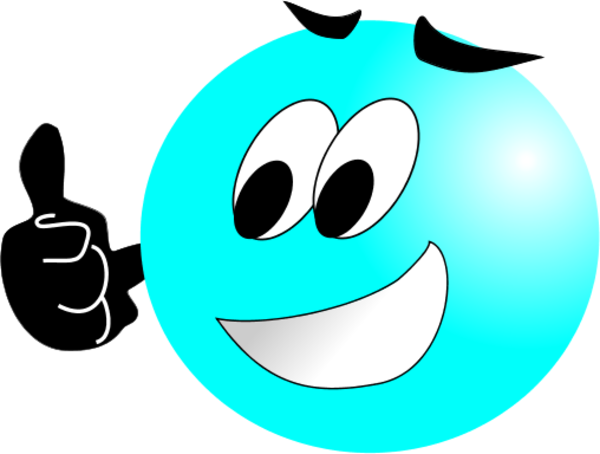 600x454 Female Thumbs Up Smiley Face Clipart