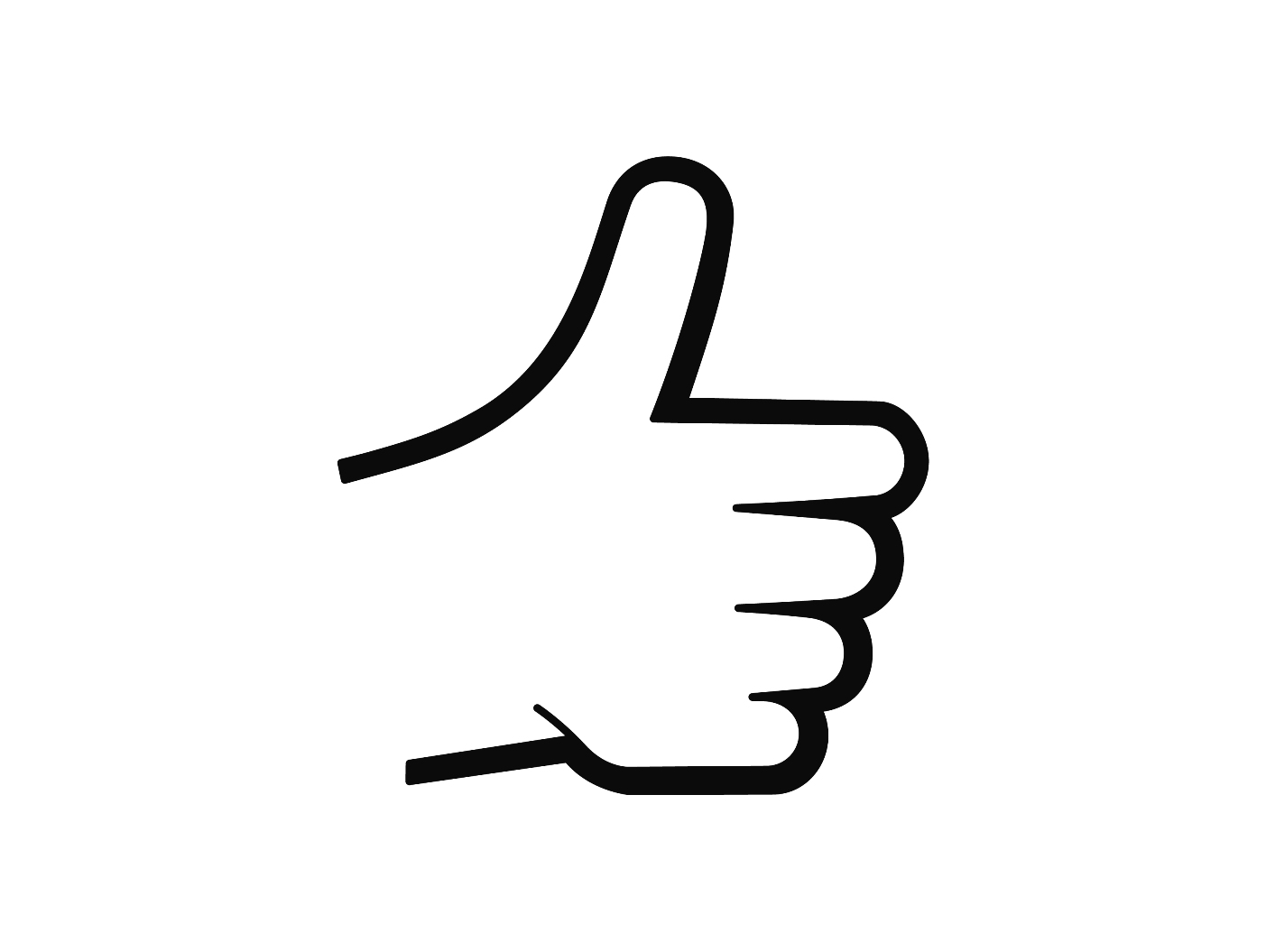 1403x1055 Thumbs Up Sign Clipart
