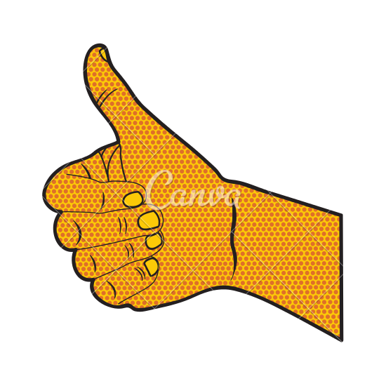 550x550 Woman With Thumbs Up