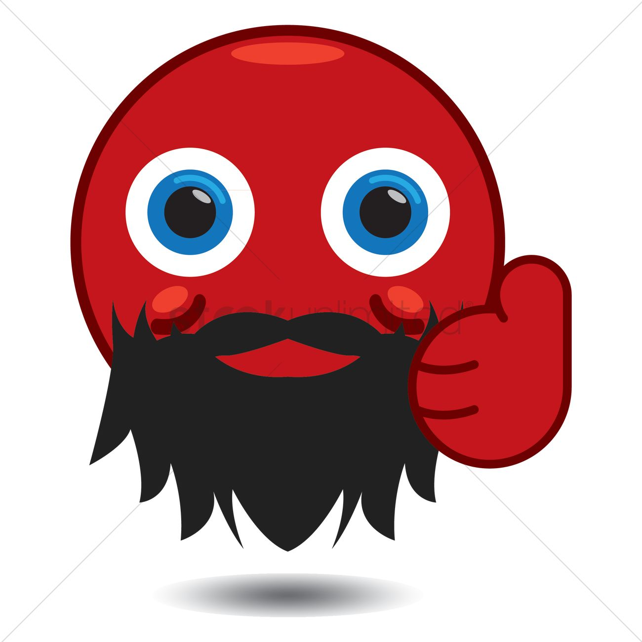 1300x1300 Free Smiley With Beard Showing Thumbs Up Vector Image