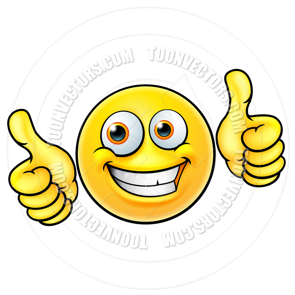 940x940 Happy Thumbs Up Emoji Emoticon By Geoimages Toon Vectors Eps