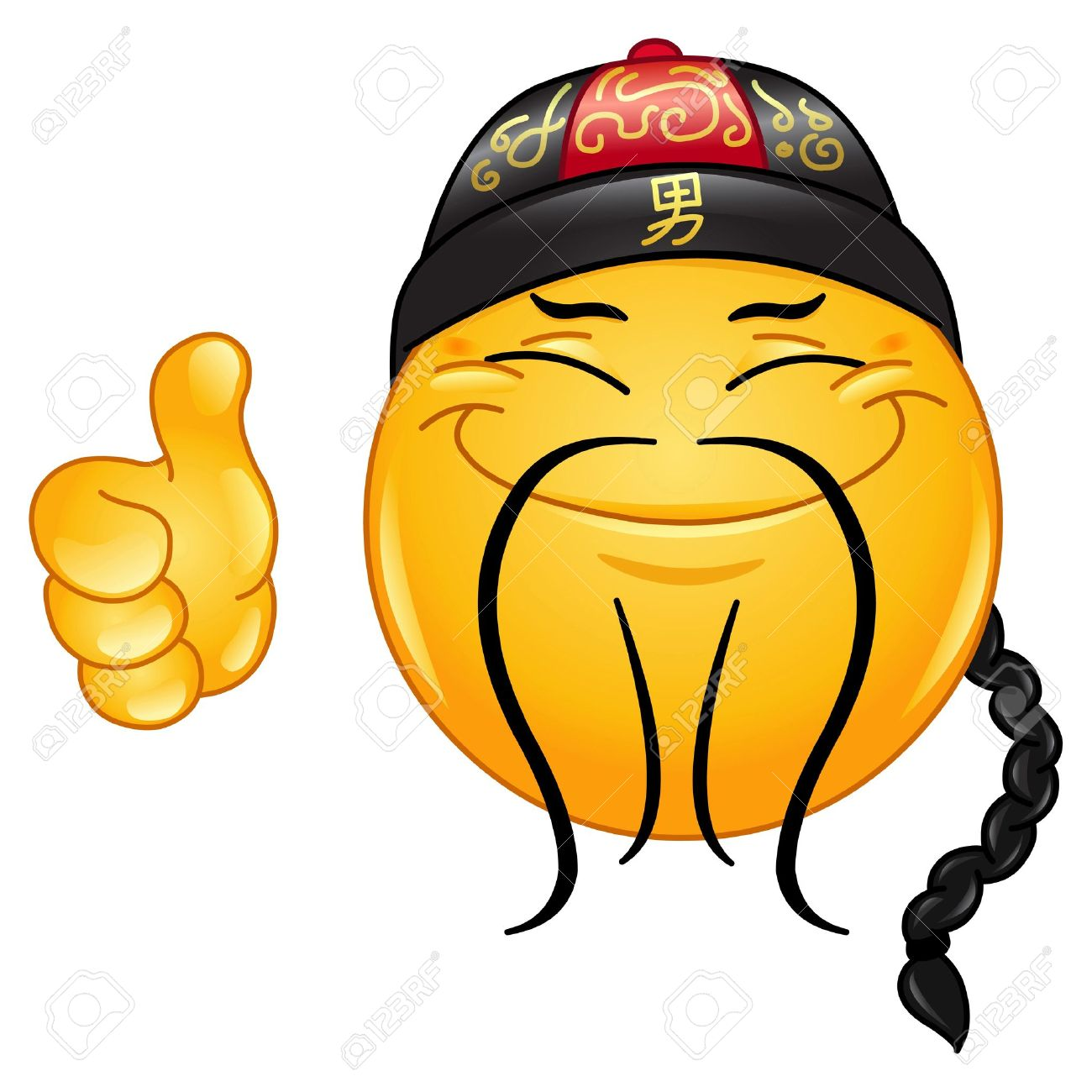 1300x1300 Smiley Face With Mustache And Thumbs Up Collection