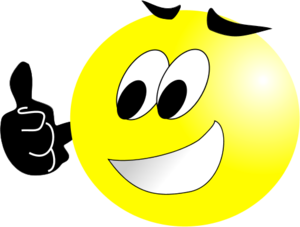 300x227 Smiley Face Wink Thumbs Up Free Clipart Images