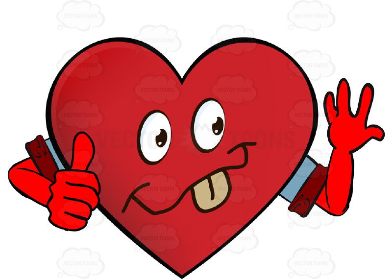 800x570 Smiling Heart Smiley With Tongue Out, Outstretched Hand, Thumbs Up