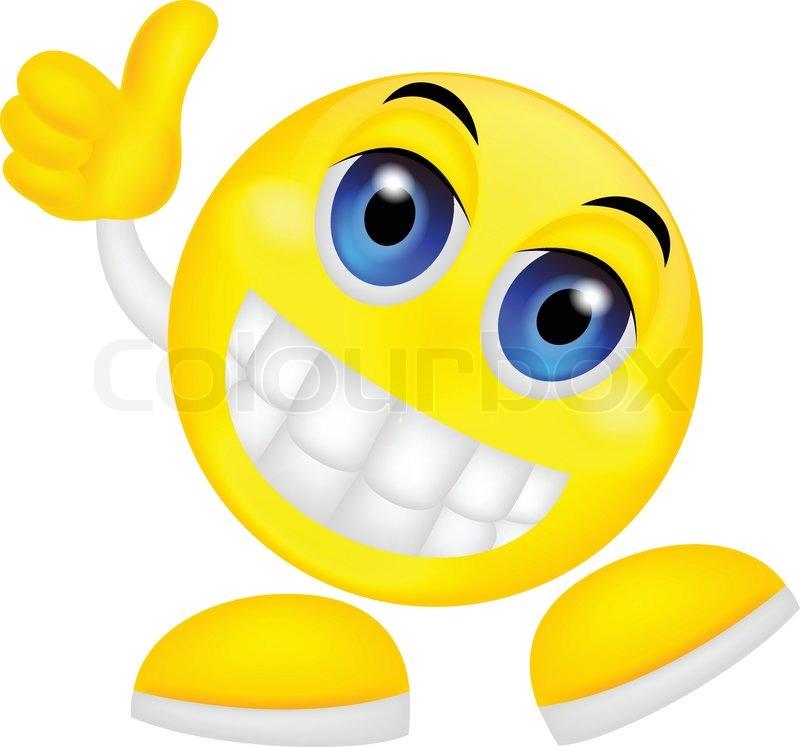 800x747 Thumb Up Emoticon Stock Vector Colourbox