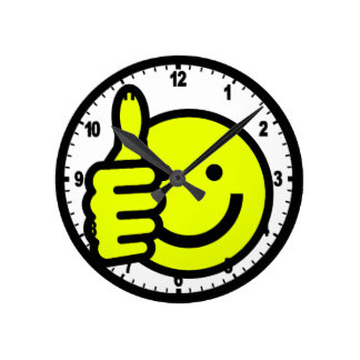 324x324 Smiley Face Wall Clocks Zazzle