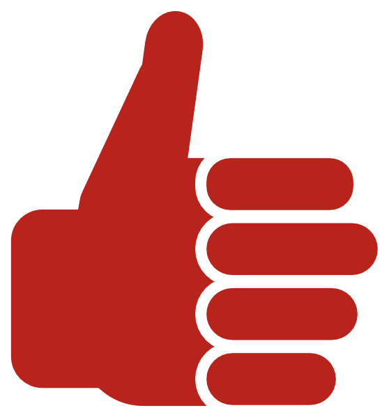 558x599 Red Thumb Up Clip Art