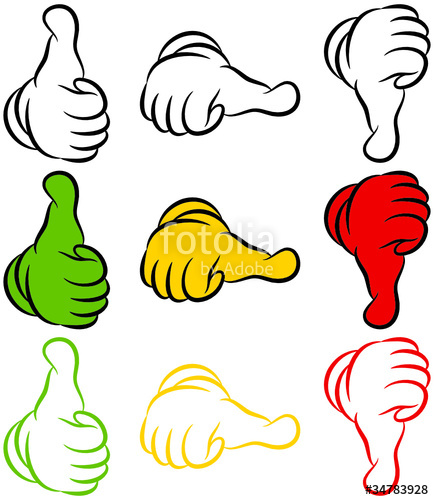 434x500 Thumb Up, Middle Amp Down Stock Image And Royalty Free Vector Files