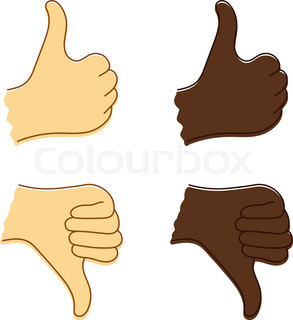 293x320 Thumbs Down And Up Stock Vector Colourbox