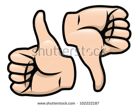 450x352 Thumbs Up Thumbs Down Clipart