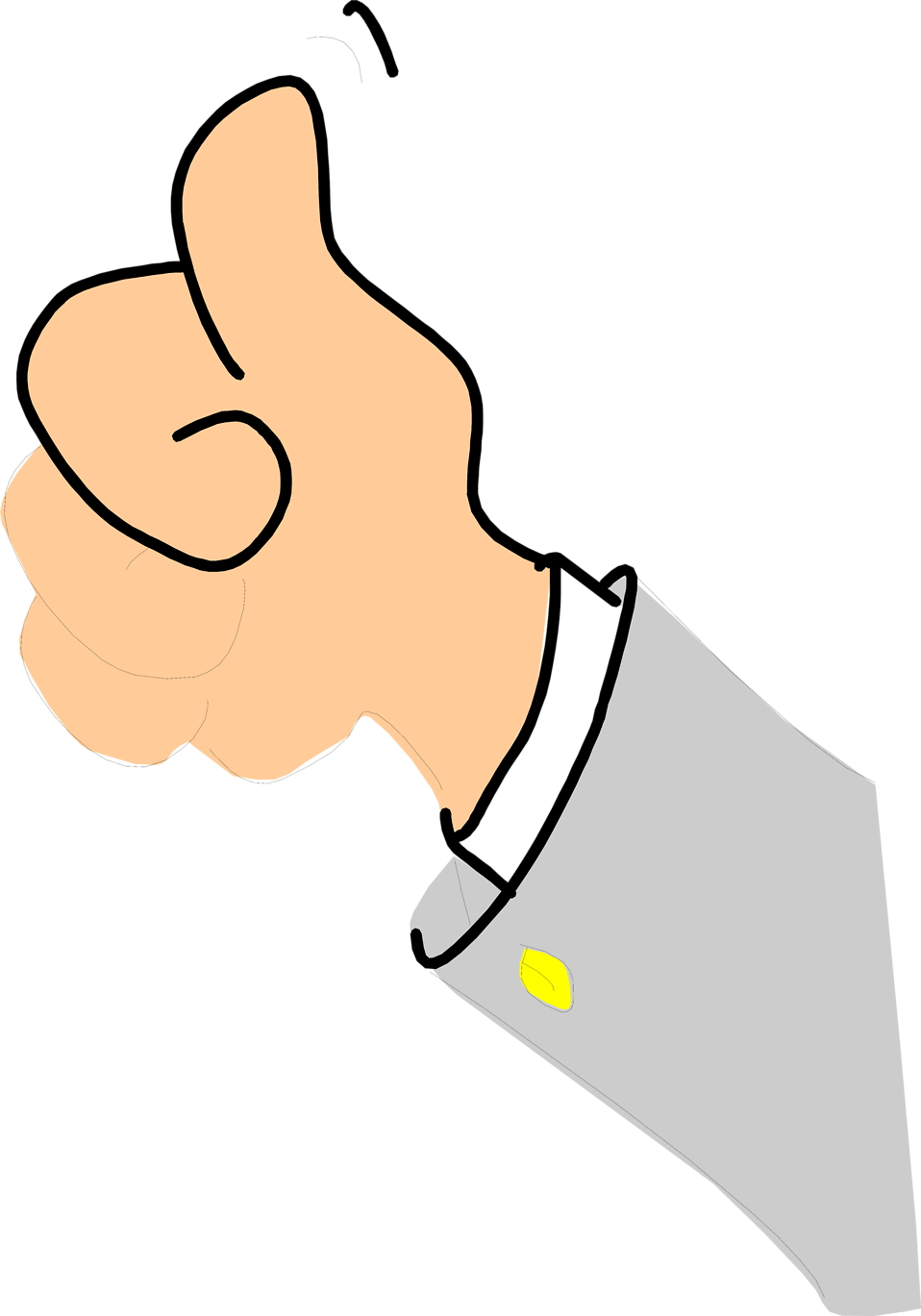 958x1369 Thumbs Up Free Stock Photo Illustration Of A Cartoon Hand
