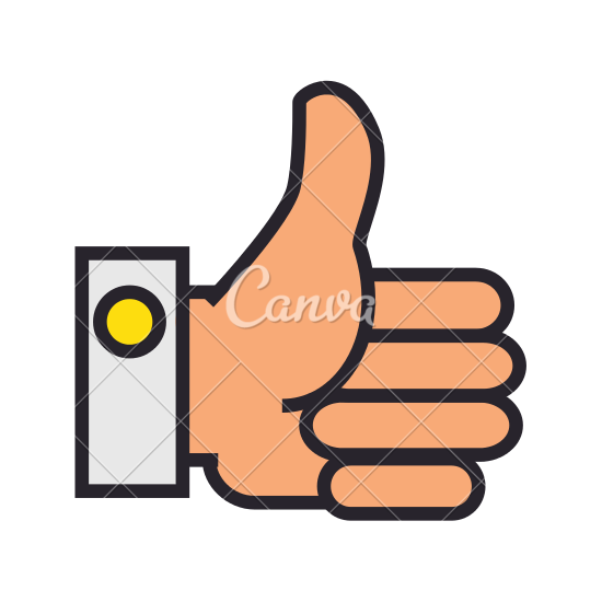 550x550 Thumbs Up Hand Vector Icon