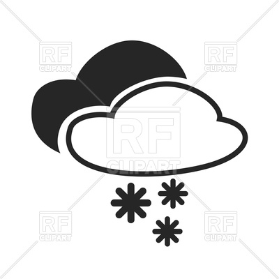 400x400 Severe Thunder With Snow Icon Royalty Free Vector Clip Art Image