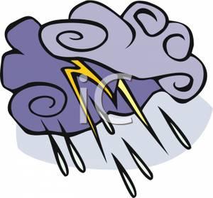 300x279 Storm Cloud And Lightning