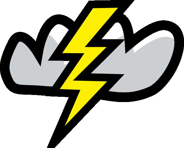 600x483 Thunder Storm Clip Art