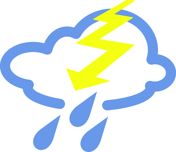 600x517 Thunder Storms Weather Symbol Clip Art