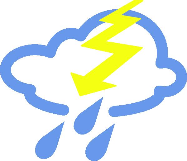 600x517 Thunder Storms Weather Symbol Clip Art