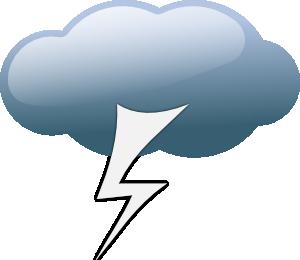 300x260 Thunderstorm Weather Symbols Clip Art