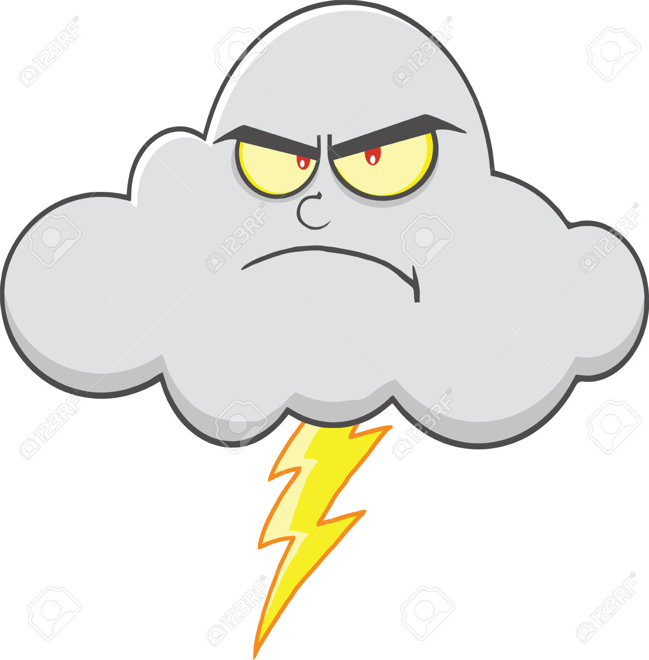 1278x1300 Thunderstorm Clipart Angry