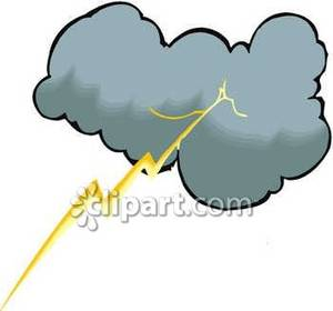 300x280 Thunderstorm Clipart Lightning Bolt