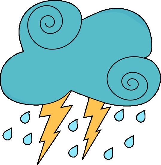 538x550 Thunderstorm Clipart Rain Cloud