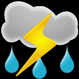 256x256 Thunderstorms Icon Weather Iconset Custom Icon Design