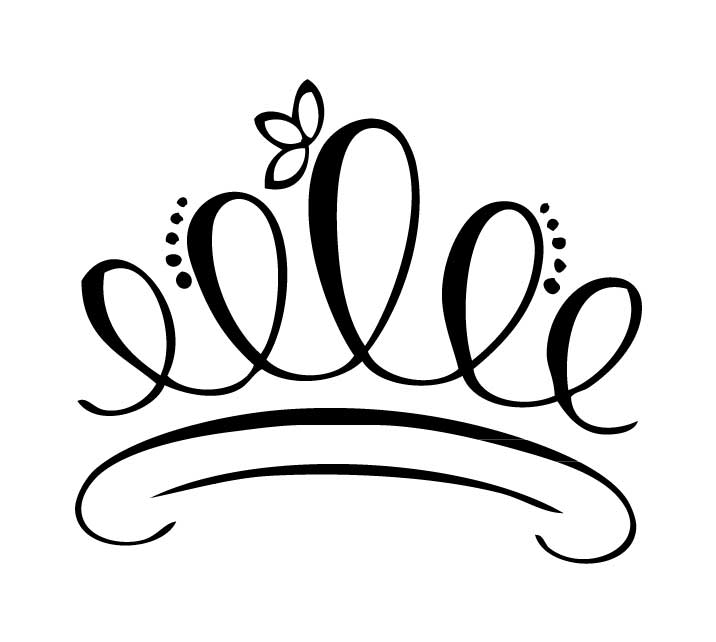 Tiara Clipart Black And White