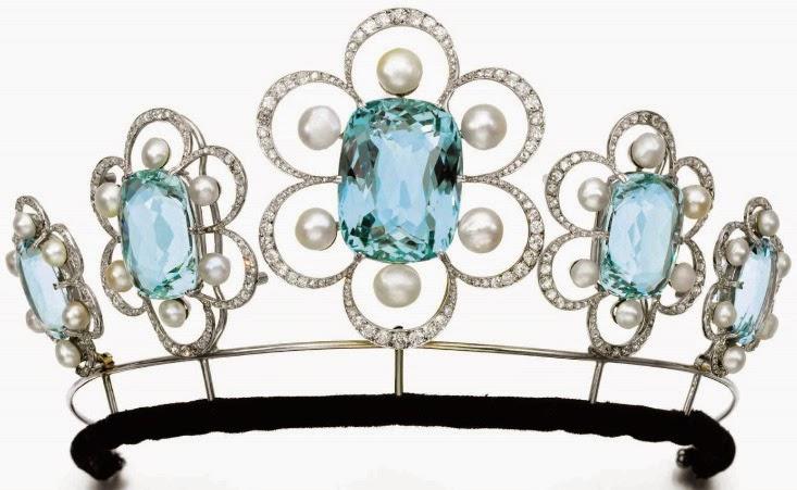 733x451 Tiara Mania Duchess Of Kent's Aquamarine Tiara