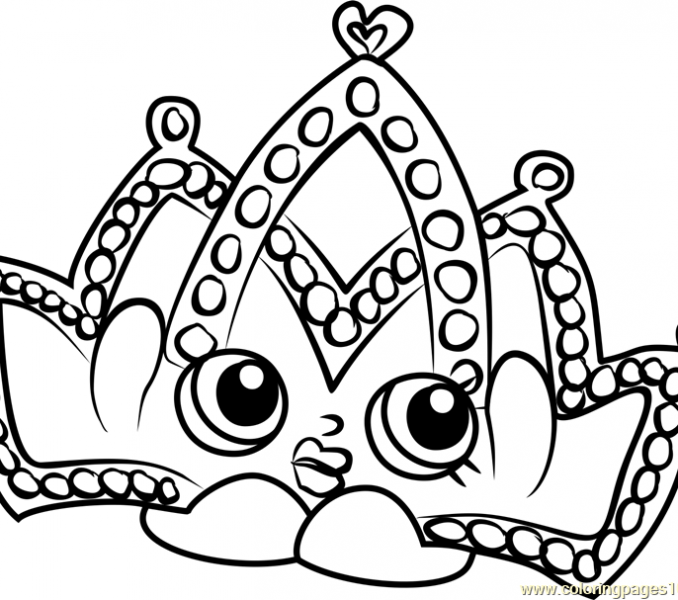 678x600 Tiara Coloring Pages Tiara Shopkins Coloring Page Free Shopkins
