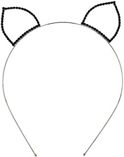 252x320 Devil Horns Outline Headband Tiara Iwth Rhinestones
