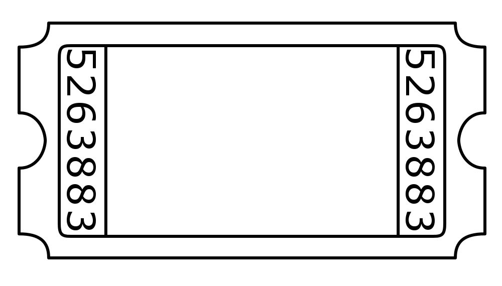 1000x570 Blank Ticket Cliparts Free Clip Art