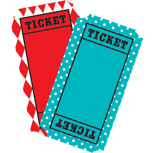 500x500 Carneval Clipart Ticket Out
