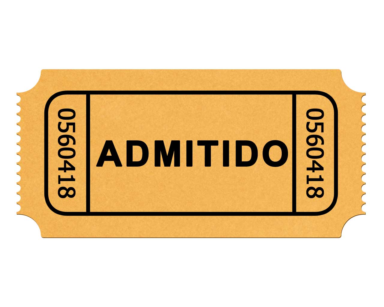 1280x1024 Ticket Stub Clipart