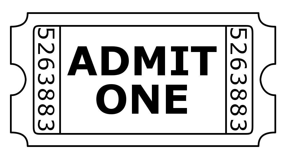1000x570 Admit One Ticket Clip Art