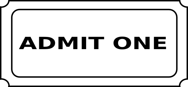 600x278 Admit One Ticket Clip Art