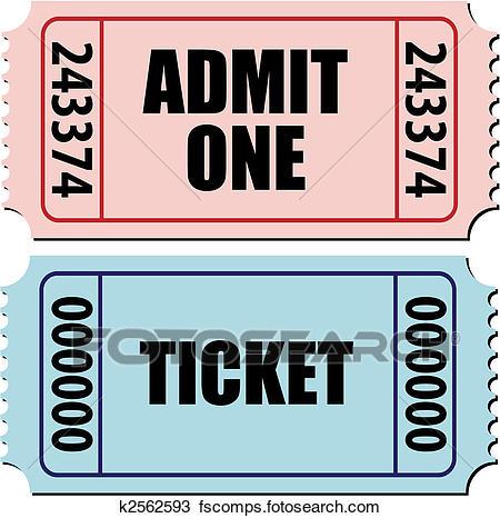 450x466 Clipart Of Admit One Ticket K2562593