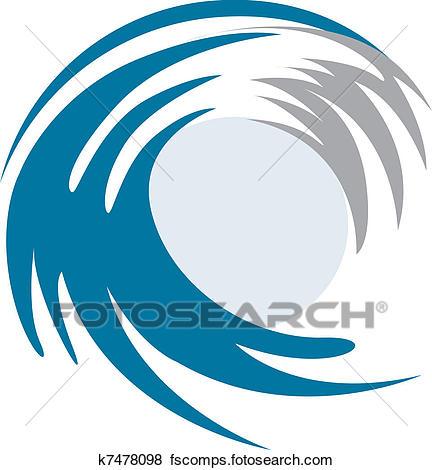 432x470 Clipart Of Set Of Wave Symbols K4055435