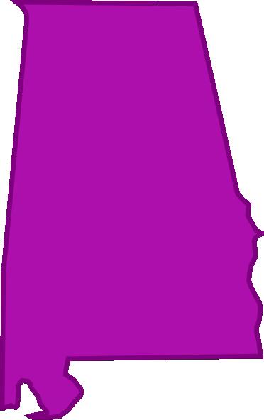 372x592 Alabama Outline Clip Art