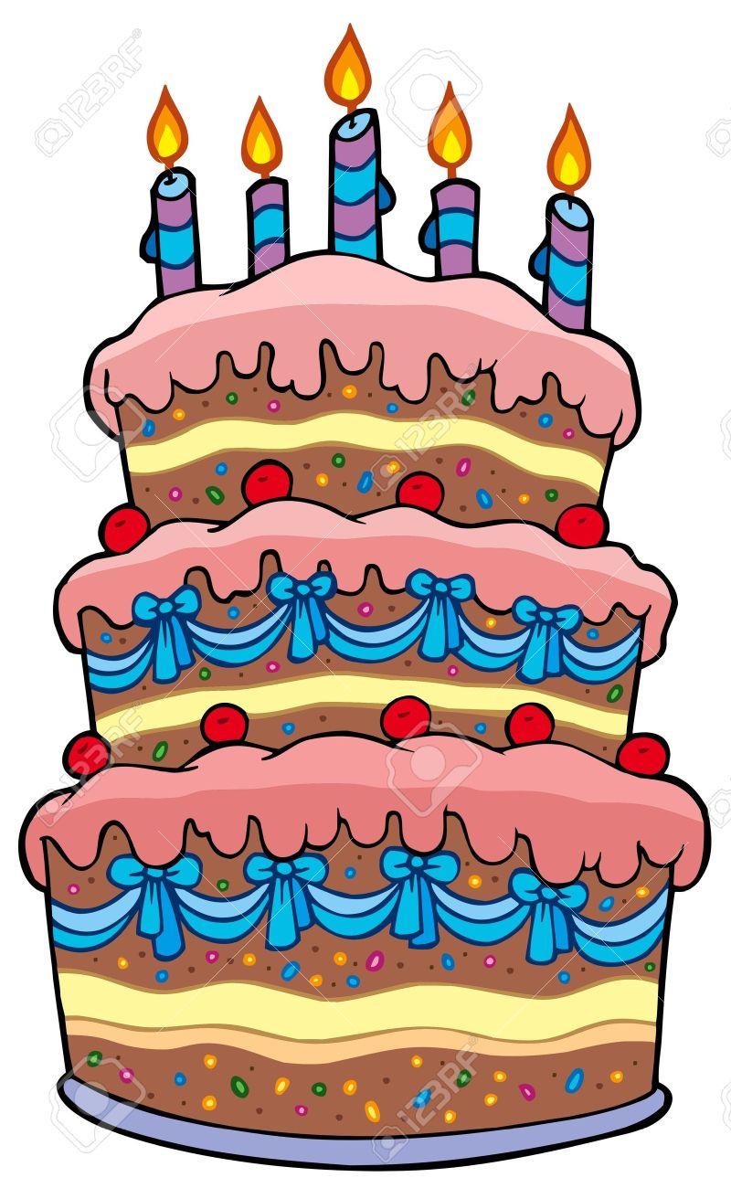 800x1300 Big Cake Clipart