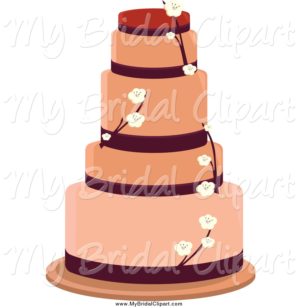 1024x1044 Bridal Clipart Of A Tiered Blossom Wedding Cake By Randomway