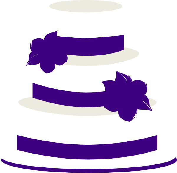 600x587 Clip Art Black And White Tiered Cake Clipart