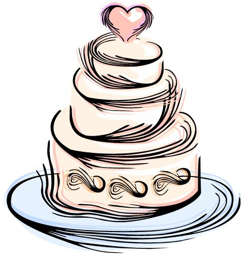 490x514 Clip Art Black And White Tiered Cake Clipart
