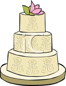 232x300 Formal Wedding Cake Clip Art Image
