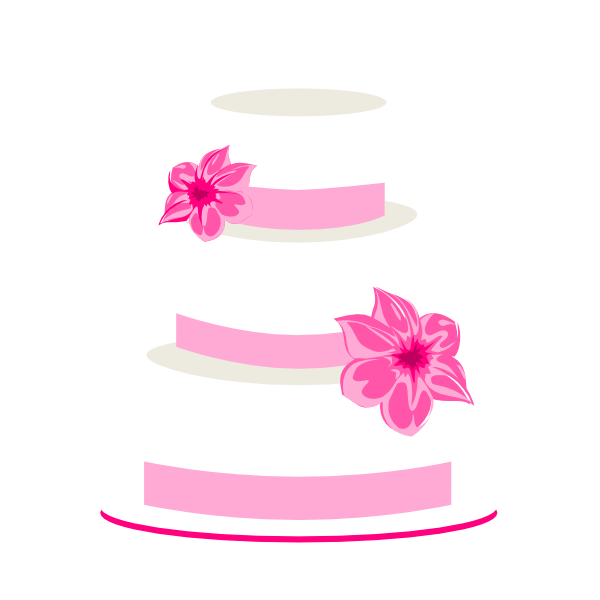 600x600 Pink Wedding Cake Clipart
